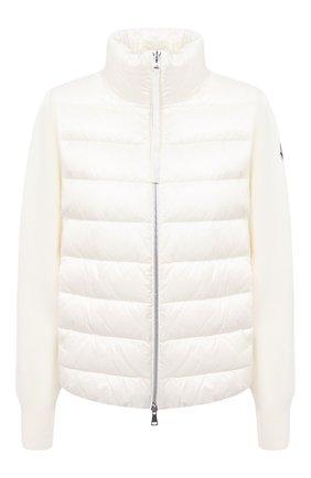 Женский пуховая куртка MONCLER белого цвета, арт. F2-093-9B511-00-A9018 | Фото 1