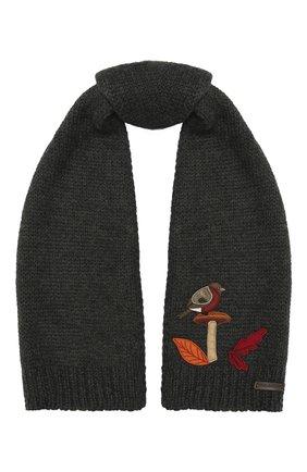 Детский шерстяной шарф DOLCE & GABBANA темно-серого цвета, арт. LBKA70/JAM01 | Фото 1 (Материал: Шерсть)