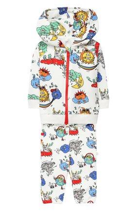 Детский комплект из толстовки и брюк STELLA MCCARTNEY белого цвета, арт. 601498/SPJ86 | Фото 1