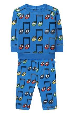 Детский комплект из свитшота и брюк STELLA MCCARTNEY синего цвета, арт. 601495/SPJG5 | Фото 1