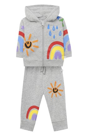 Детский комплект из толстовки и брюк STELLA MCCARTNEY серого цвета, арт. 601491/SPJA4 | Фото 1