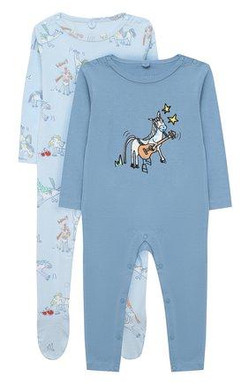 Детский комплект из двух комбинезонов STELLA MCCARTNEY голубого цвета, арт. 601489/SPJ10 | Фото 1