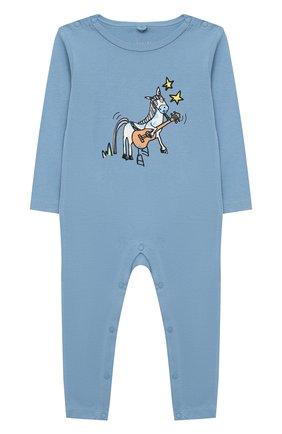 Детский комплект из двух комбинезонов STELLA MCCARTNEY голубого цвета, арт. 601489/SPJ10 | Фото 5