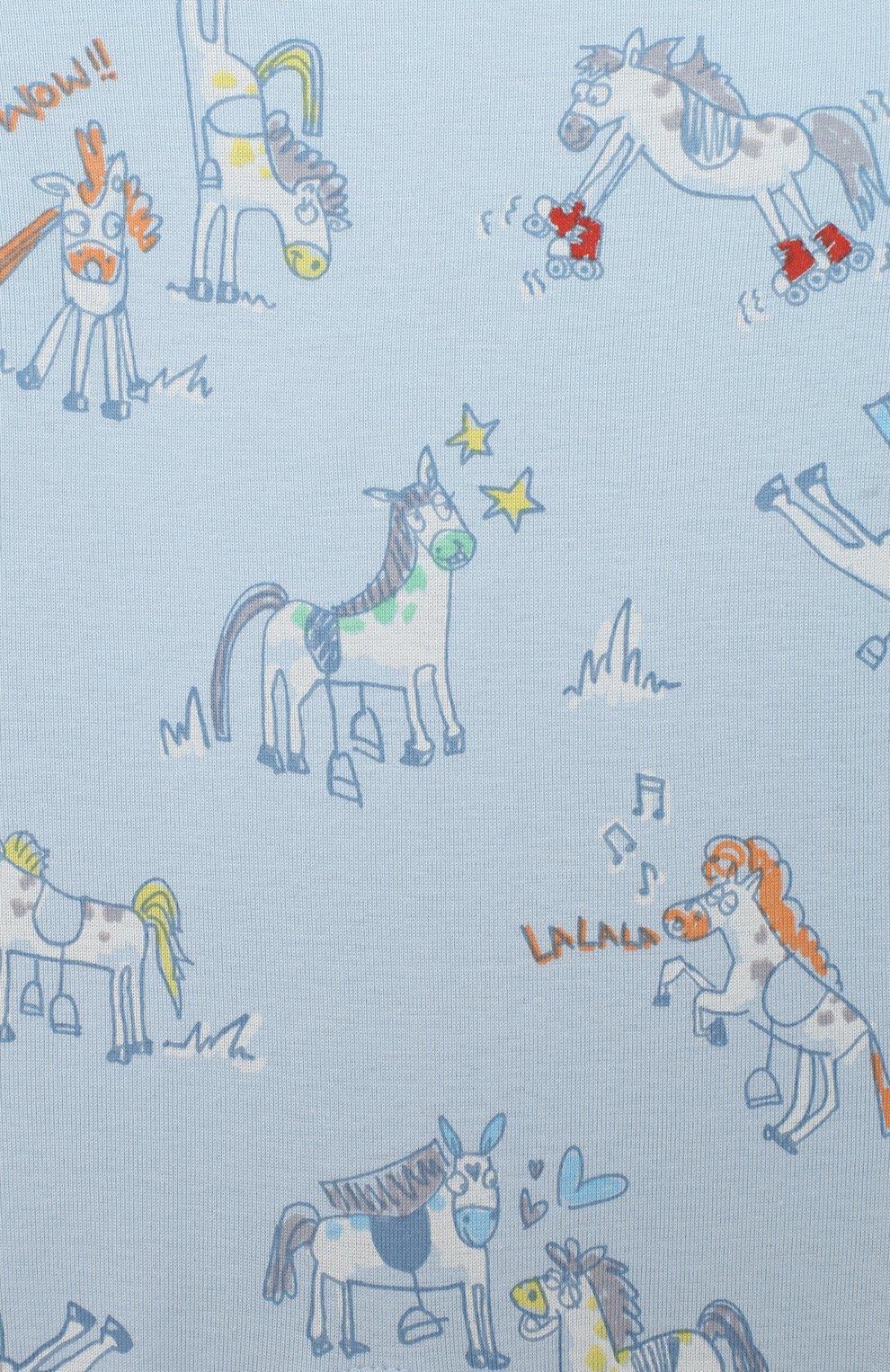 Детский комплект из двух комбинезонов STELLA MCCARTNEY голубого цвета, арт. 601487/SPJ10   Фото 4