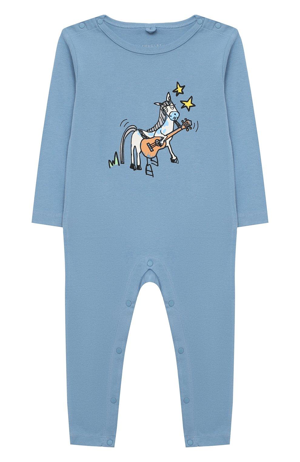 Детский комплект из двух комбинезонов STELLA MCCARTNEY голубого цвета, арт. 601487/SPJ10   Фото 5