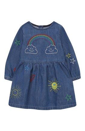 Женский хлопковое платье STELLA MCCARTNEY синего цвета, арт. 601468/SPKA1 | Фото 1