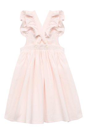 Женский хлопковый сарафан STELLA MCCARTNEY светло-розового цвета, арт. 601466/SPK82 | Фото 2