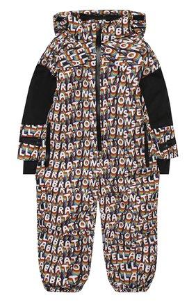 Детского утепленный комбинезон STELLA MCCARTNEY разноцветного цвета, арт. 601455/SPK40   Фото 1