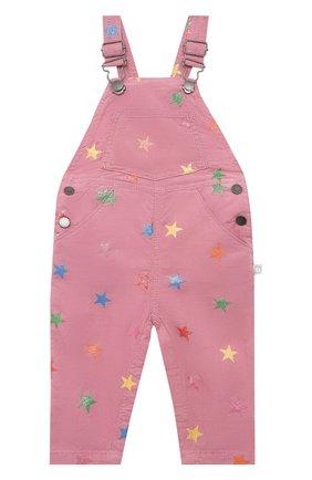 Детский хлопковый комбинезон STELLA MCCARTNEY розового цвета, арт. 601449/SPK83 | Фото 1
