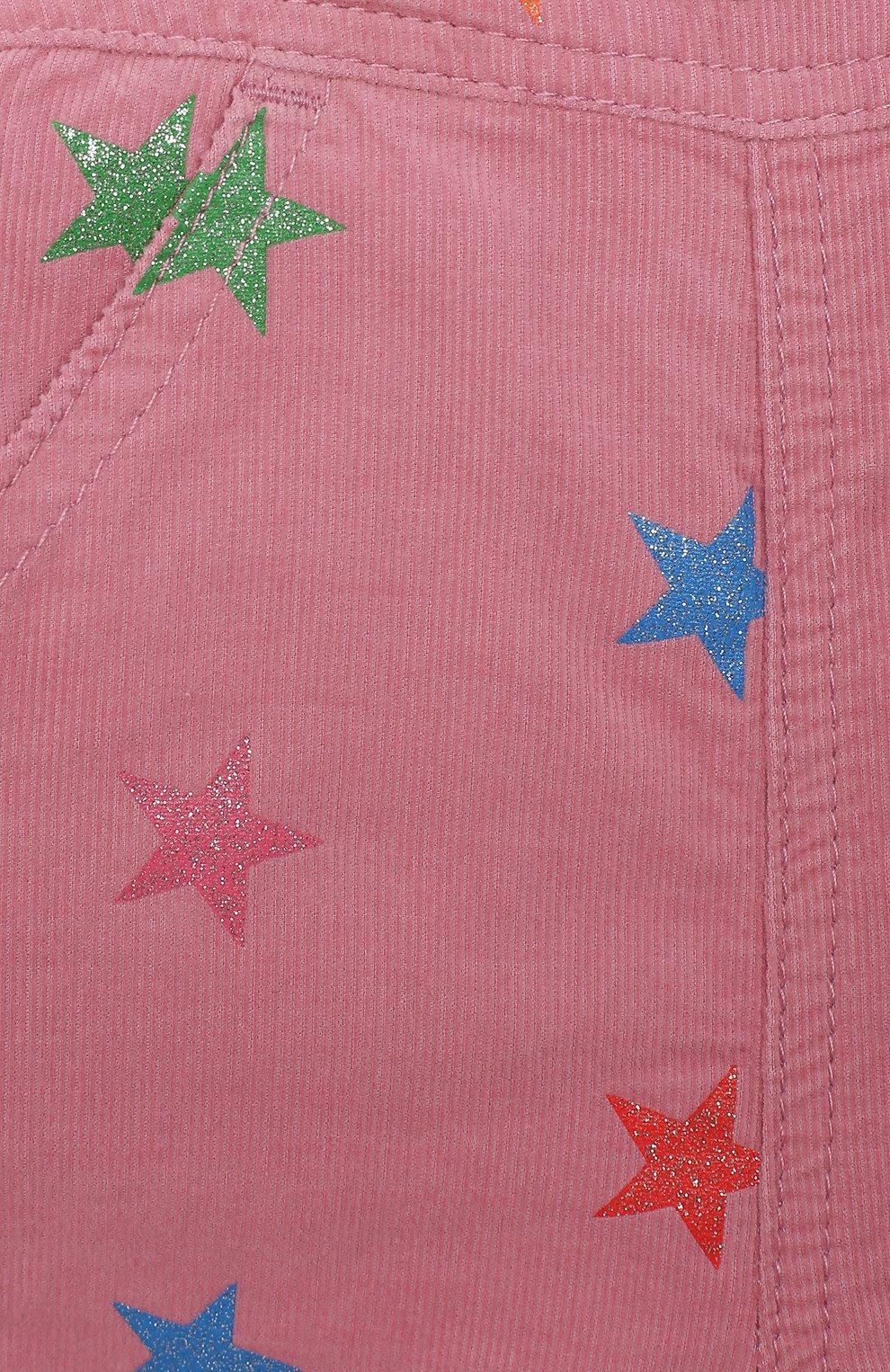 Детский хлопковый комбинезон STELLA MCCARTNEY розового цвета, арт. 601449/SPK83 | Фото 3