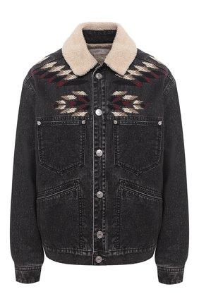 Женская джинсовая куртка ISABEL MARANT ETOILE темно-серого цвета, арт. VE1400-20A037E/JARNA   Фото 1