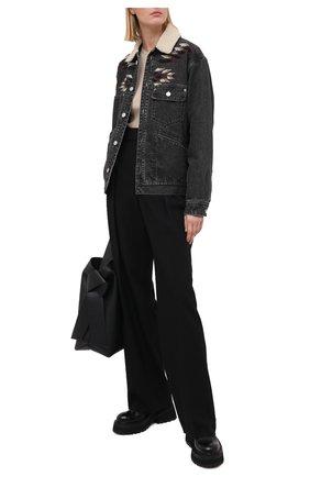 Женская джинсовая куртка ISABEL MARANT ETOILE темно-серого цвета, арт. VE1400-20A037E/JARNA   Фото 2