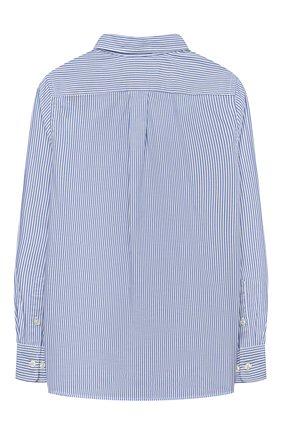 Детская хлопковая рубашка POLO RALPH LAUREN голубого цвета, арт. 323819240 | Фото 2
