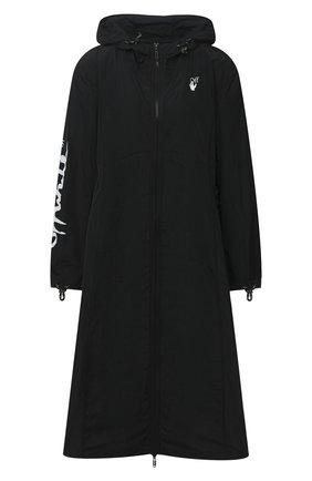 Женский плащ с капюшоном OFF-WHITE черного цвета, арт. 0WVL011E20FAB0011001 | Фото 1