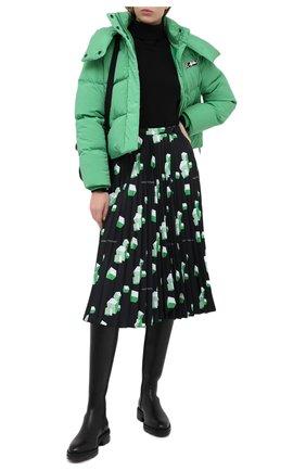 Женский пуховая куртка OFF-WHITE зеленого цвета, арт. 0WEA213E20FAB0015501 | Фото 2