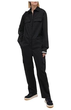 Женский хлопковый комбинезон SUBTERRANEI черного цвета, арт. I7SUB18-012   Фото 2