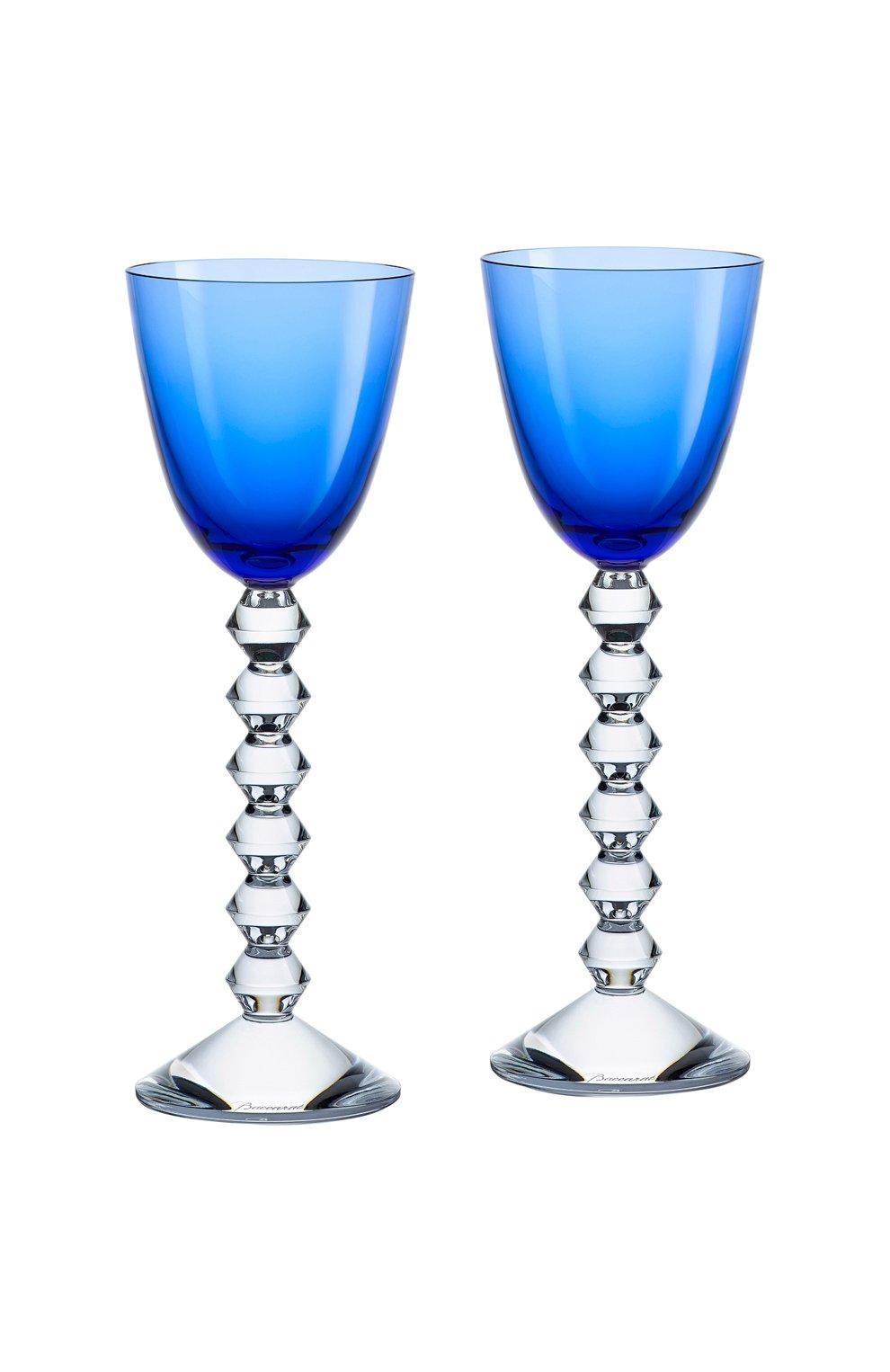Мужского набор из 2-х бокалов vin du rhin vega BACCARAT голубого цвета, арт. 2 812 267   Фото 1