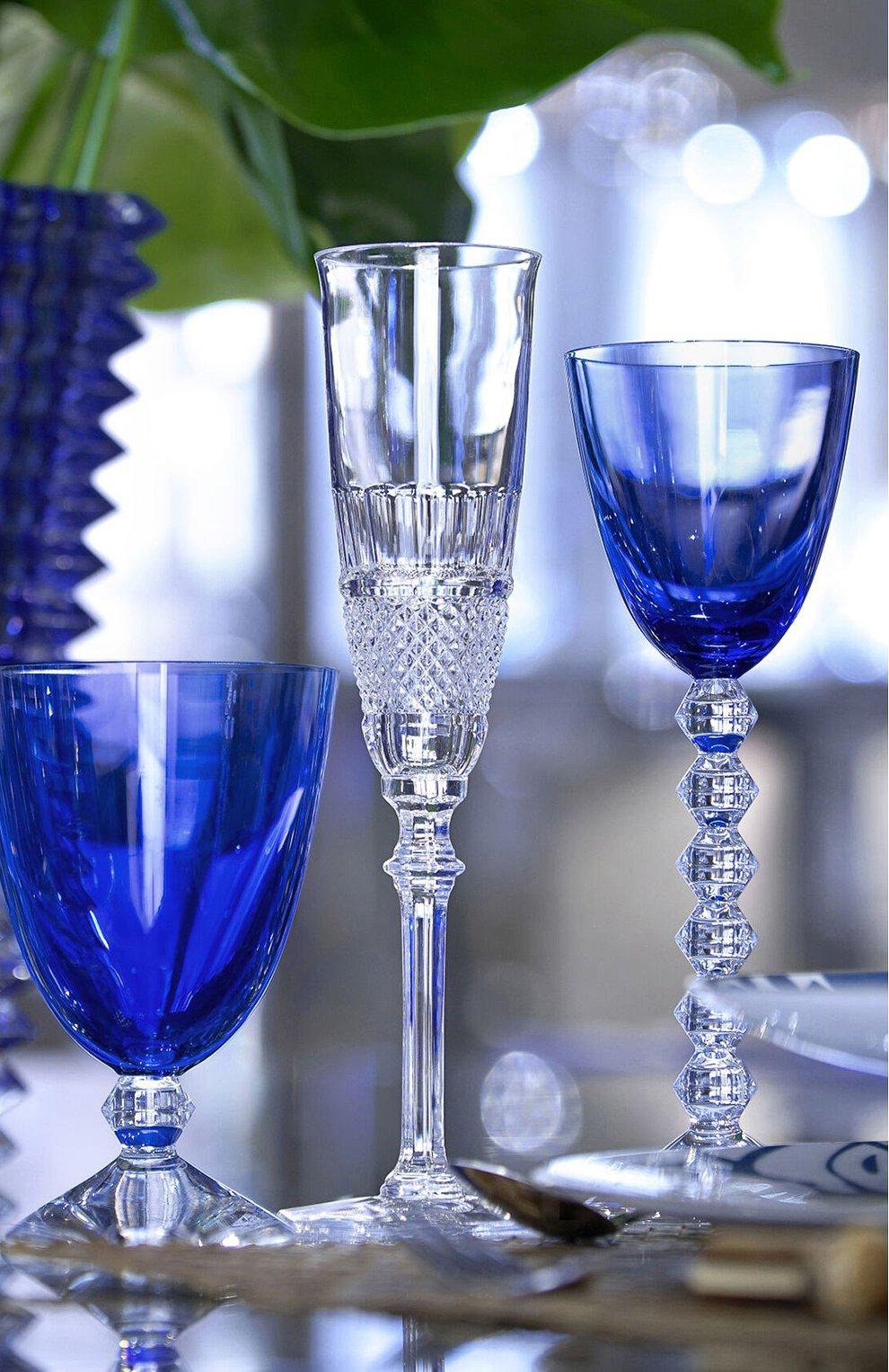 Мужского набор из 2-х бокалов vin du rhin vega BACCARAT голубого цвета, арт. 2 812 267   Фото 2