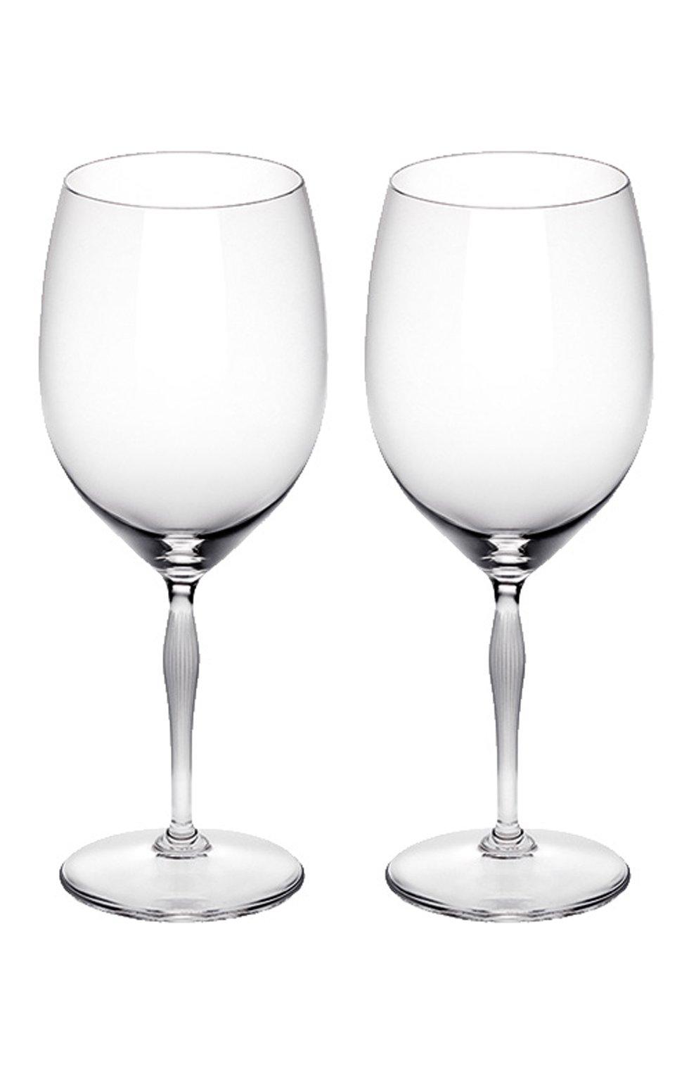 Мужского набор из 2-х бокалов для вина bordeaux 100 points LALIQUE прозрачного цвета, арт. 10332200 | Фото 1