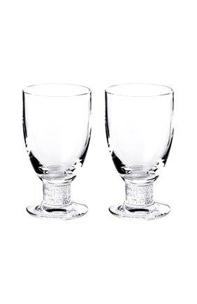 Мужского набор из 2-х бокалов для вина louvre LALIQUE прозрачного цвета, арт. 1734300 | Фото 1