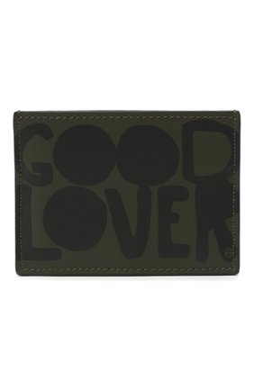 Мужской кожаный футляр для кредитных карт valentino garavani lovers language VALENTINO хаки цвета, арт. UY0P0448/PQP | Фото 1