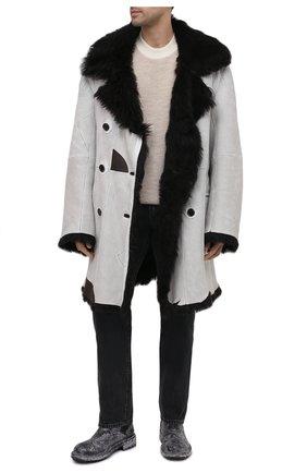 Мужские кожаные челси DOLCE & GABBANA черно-белого цвета, арт. A60327/AX535 | Фото 2