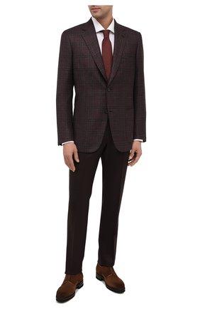 Мужской пиджак из шелка и кашемира BRIONI коричневого цвета, арт. RGH00U/09411/PARLAMENT0 | Фото 2