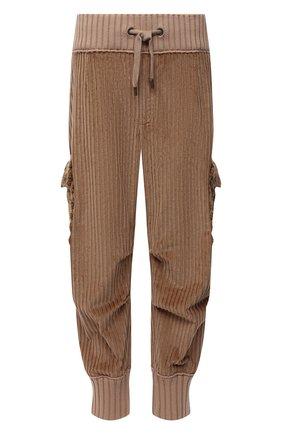 Мужские хлопковые джоггеры DOLCE & GABBANA бежевого цвета, арт. GWZ9HT/FUVFH | Фото 1 (Длина (брюки, джинсы): Стандартные; Материал внешний: Хлопок; Силуэт М (брюки): Джоггеры, Карго; Стили: Бохо)