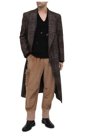 Мужские хлопковые джоггеры DOLCE & GABBANA бежевого цвета, арт. GWZ9HT/FUVFH | Фото 2 (Длина (брюки, джинсы): Стандартные; Материал внешний: Хлопок; Силуэт М (брюки): Джоггеры, Карго; Стили: Бохо)