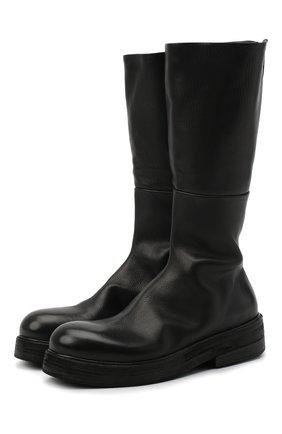 Мужские кожаные сапоги MARSELL черного цвета, арт. MM2970/PELLE V0L0NATA | Фото 1