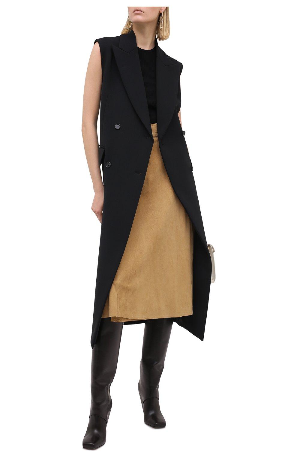 Женская замшевая юбка RALPH LAUREN бежевого цвета, арт. 290790828   Фото 2