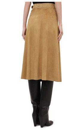 Женская замшевая юбка RALPH LAUREN бежевого цвета, арт. 290790828   Фото 4