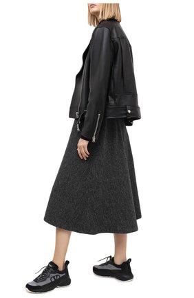 Женские комбинированные кроссовки valentino garavani shegoes VALENTINO черного цвета, арт. UW2S0AB1/MUC   Фото 2