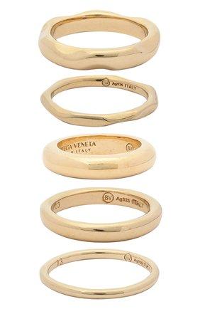 Женское набор из пяти колец BOTTEGA VENETA золотого цвета, арт. 637081/VAHU0 | Фото 1