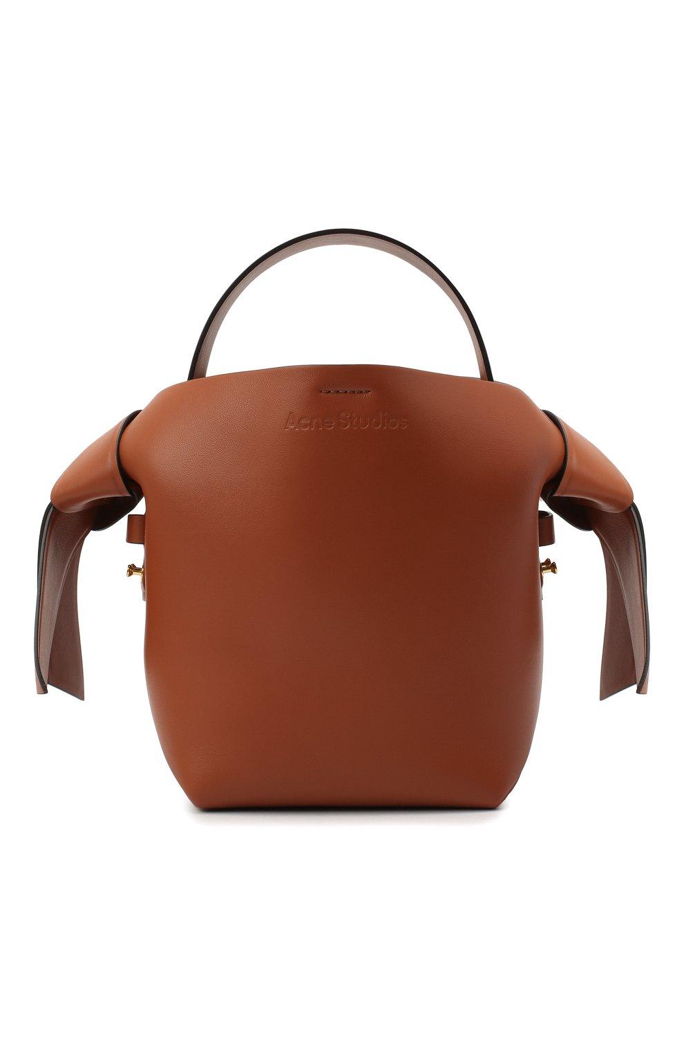Женская сумка musubi mini ACNE STUDIOS коричневого цвета, арт. A10093   Фото 1
