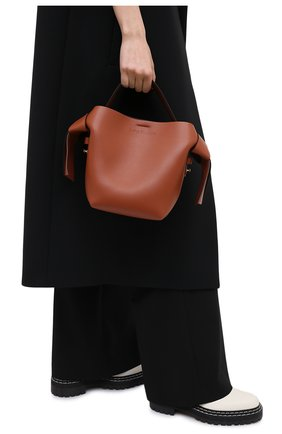 Женская сумка musubi mini ACNE STUDIOS коричневого цвета, арт. A10093   Фото 2