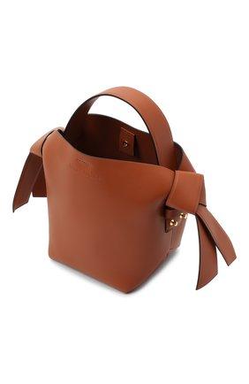 Женская сумка musubi mini ACNE STUDIOS коричневого цвета, арт. A10093   Фото 4