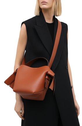 Женская сумка musubi mini ACNE STUDIOS коричневого цвета, арт. A10093   Фото 5