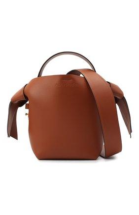 Женская сумка musubi mini ACNE STUDIOS коричневого цвета, арт. A10093   Фото 6