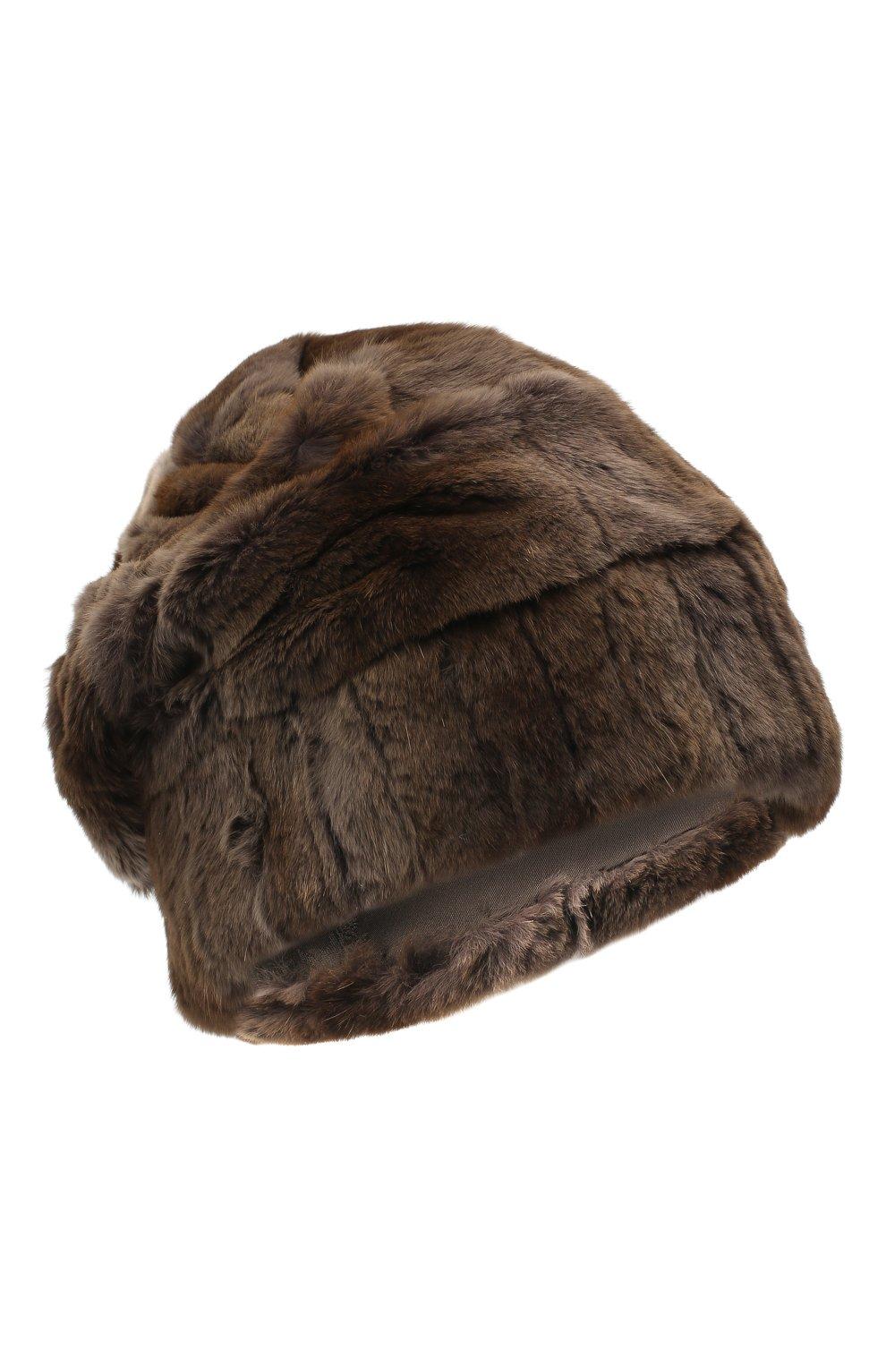 Мужская шапка из меха колонка FURLAND коричневого цвета, арт. 0105108150070200000 | Фото 1