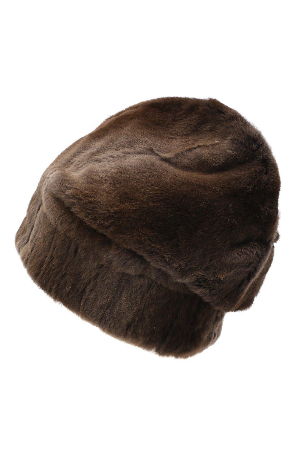 Мужская шапка из меха колонка FURLAND коричневого цвета, арт. 0105108150070200000 | Фото 2