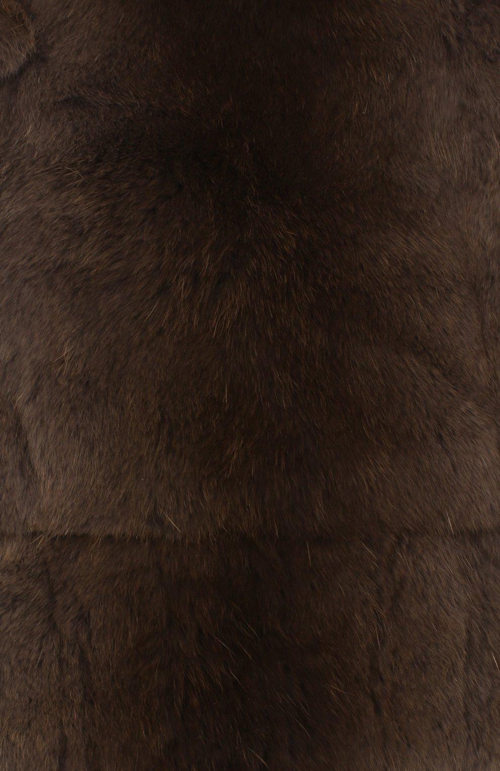 Мужская шапка из меха колонка FURLAND коричневого цвета, арт. 0105108150070200000 | Фото 3