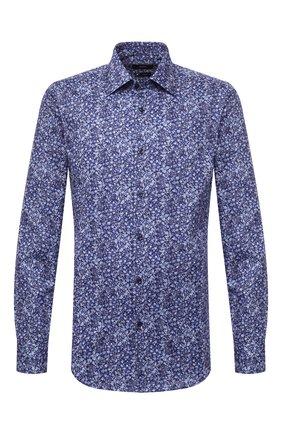 Мужская хлопковая сорочка BOSS синего цвета, арт. 50440094 | Фото 1