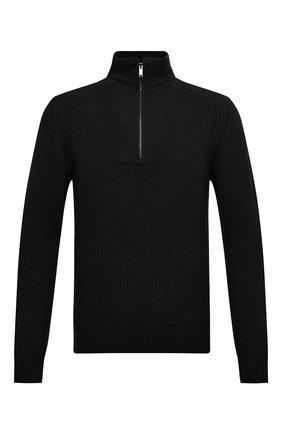 Мужской шерстяной свитер DANIELE FIESOLI черного цвета, арт. DF 5091   Фото 1