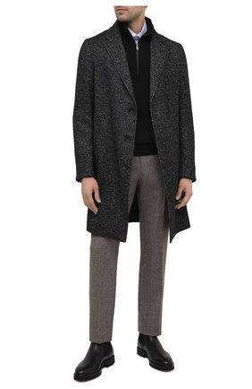 Мужской шерстяной свитер DANIELE FIESOLI черного цвета, арт. DF 5091   Фото 2