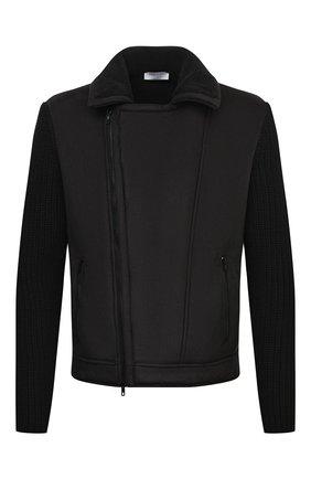Мужская комбинированная куртка GRAN SASSO черного цвета, арт. 10183/25040   Фото 1