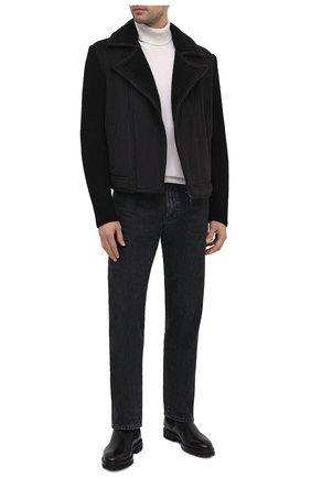 Мужская комбинированная куртка GRAN SASSO черного цвета, арт. 10183/25040   Фото 2