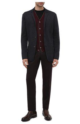 Мужской шерстяной пиджак GRAN SASSO темно-серого цвета, арт. 57177/14427   Фото 2
