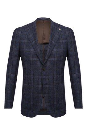 Мужской шерстяной пиджак L.B.M. 1911 темно-синего цвета, арт. 2411/02122   Фото 1