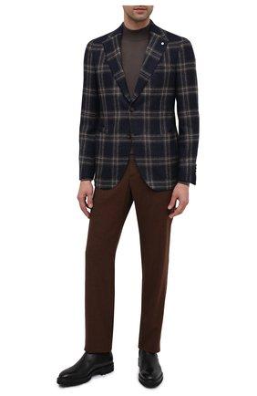 Мужской пиджак из шерсти и шелка L.B.M. 1911 темно-синего цвета, арт. 2411/02024   Фото 2